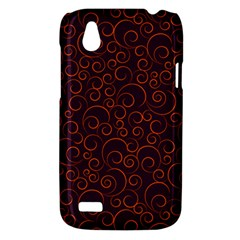 Seamless Orange Ornaments Pattern HTC Desire V (T328W) Hardshell Case