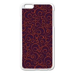 Seamless Orange Ornaments Pattern Apple Iphone 6 Plus/6s Plus Enamel White Case by TastefulDesigns