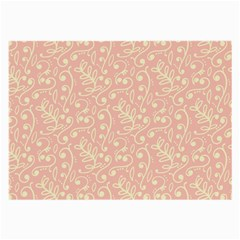 Girly Pink Leaves And Swirls Ornamental Background Large Glasses Cloth by TastefulDesigns