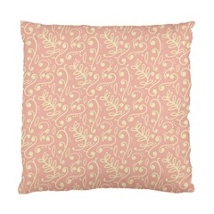 Girly Pink Leaves And Swirls Ornamental Background Standard Cushion Case (one Side) by TastefulDesigns