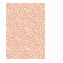 Girly Pink Leaves And Swirls Ornamental Background Large Garden Flag (two Sides) by TastefulDesigns