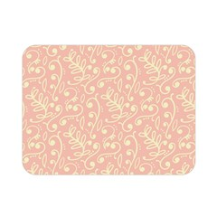 Girly Pink Leaves And Swirls Ornamental Background Double Sided Flano Blanket (mini)  by TastefulDesigns