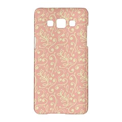 Girly Pink Leaves And Swirls Ornamental Background Samsung Galaxy A5 Hardshell Case  by TastefulDesigns