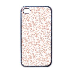Hand Drawn Seamless Floral Ornamental Background Apple Iphone 4 Case (black) by TastefulDesigns