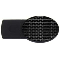 Brick1 Black Marble & Silver Brushed Metal Usb Flash Drive Oval (2 Gb) by trendistuff