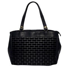 Brick1 Black Marble & Silver Brushed Metal Oversize Office Handbag by trendistuff