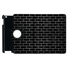 Brick1 Black Marble & Silver Brushed Metal Apple Ipad 2 Flip 360 Case by trendistuff