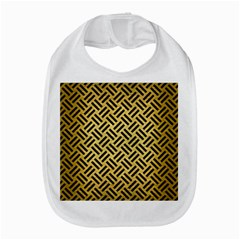 Woven2 Black Marble & Gold Brushed Metal (r) Bib by trendistuff