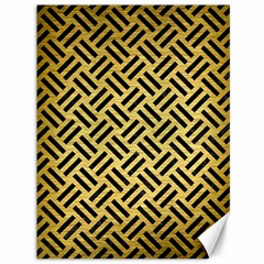 Woven2 Black Marble & Gold Brushed Metal (r) Canvas 36  X 48  by trendistuff