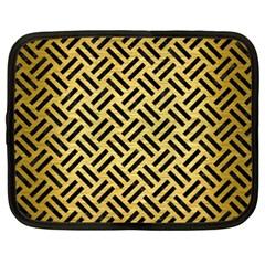 WOV2 BK MARBLE GOLD (R) Netbook Case (XXL)  by trendistuff