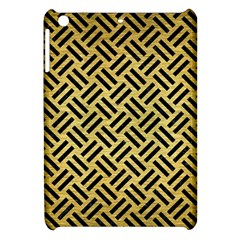 Woven2 Black Marble & Gold Brushed Metal (r) Apple Ipad Mini Hardshell Case by trendistuff