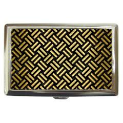 Woven2 Black Marble & Gold Brushed Metal Cigarette Money Case