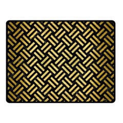 Woven2 Black Marble & Gold Brushed Metal Double Sided Fleece Blanket (small) by trendistuff