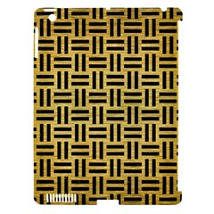 Woven1 Black Marble & Gold Brushed Metal (r) Apple Ipad 3/4 Hardshell Case (compatible With Smart Cover) by trendistuff