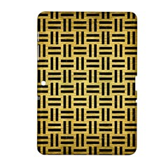 Woven1 Black Marble & Gold Brushed Metal (r) Samsung Galaxy Tab 2 (10 1 ) P5100 Hardshell Case  by trendistuff