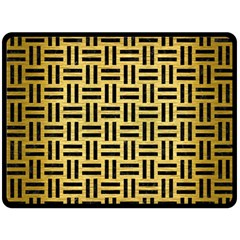 Woven1 Black Marble & Gold Brushed Metal (r) Double Sided Fleece Blanket (large) by trendistuff