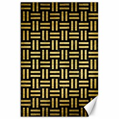 Woven1 Black Marble & Gold Brushed Metal Canvas 20  X 30  by trendistuff