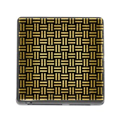 Woven1 Black Marble & Gold Brushed Metal Memory Card Reader (square) by trendistuff