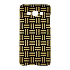 Woven1 Black Marble & Gold Brushed Metal Samsung Galaxy A5 Hardshell Case  by trendistuff