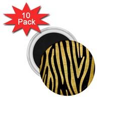 Skin4 Black Marble & Gold Brushed Metal (r) 1 75  Magnet (10 Pack)  by trendistuff
