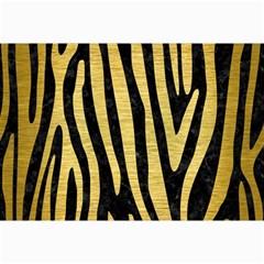 Skin4 Black Marble & Gold Brushed Metal (r) Collage 12  X 18  by trendistuff