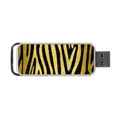Skin4 Black Marble & Gold Brushed Metal (r) Portable Usb Flash (two Sides) by trendistuff
