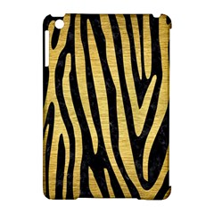 Skin4 Black Marble & Gold Brushed Metal (r) Apple Ipad Mini Hardshell Case (compatible With Smart Cover) by trendistuff
