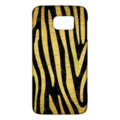 Skin4 Black Marble & Gold Brushed Metal (r) Samsung Galaxy S6 Hardshell Case  by trendistuff