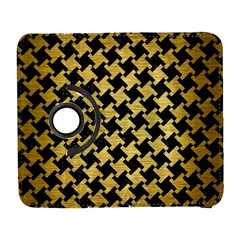 Houndstooth2 Black Marble & Gold Brushed Metal Samsung Galaxy S  Iii Flip 360 Case by trendistuff