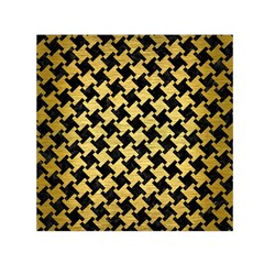HTH2 BK MARBLE GOLD Small Satin Scarf (Square) by trendistuff