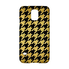 Houndstooth1 Black Marble & Gold Brushed Metal Samsung Galaxy S5 Hardshell Case  by trendistuff