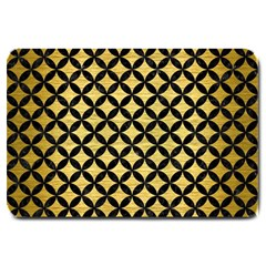 Circles3 Black Marble & Gold Brushed Metal (r) Large Doormat by trendistuff