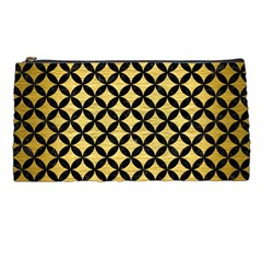 Circles3 Black Marble & Gold Brushed Metal (r) Pencil Case by trendistuff