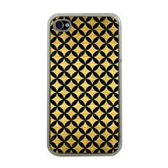 Circles3 Black Marble & Gold Brushed Metal (r) Apple Iphone 4 Case (clear) by trendistuff