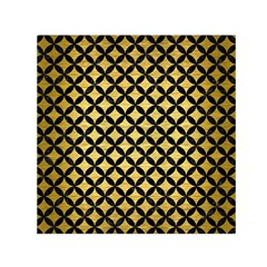 Circles3 Black Marble & Gold Brushed Metal (r) Small Satin Scarf (square) by trendistuff