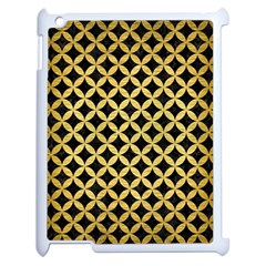 Circles3 Black Marble & Gold Brushed Metal Apple Ipad 2 Case (white) by trendistuff