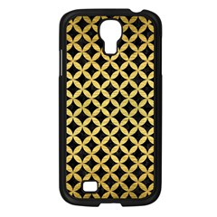 Circles3 Black Marble & Gold Brushed Metal Samsung Galaxy S4 I9500/ I9505 Case (black) by trendistuff