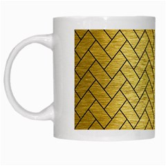 Brick2 Black Marble & Gold Brushed Metal (r) White Mug by trendistuff