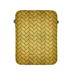 Brick2 Black Marble & Gold Brushed Metal (r) Apple Ipad 2/3/4 Protective Soft Case by trendistuff