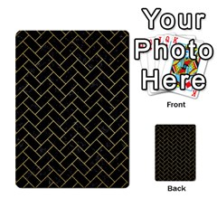 Brick2 Black Marble & Gold Brushed Metal Multi Purpose Cards (rectangle) by trendistuff