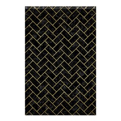Brick2 Black Marble & Gold Brushed Metal Shower Curtain 48  X 72  (small) by trendistuff