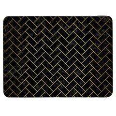 Brick2 Black Marble & Gold Brushed Metal Samsung Galaxy Tab 7  P1000 Flip Case by trendistuff