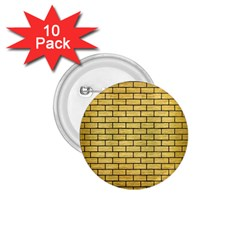 Brick1 Black Marble & Gold Brushed Metal (r) 1 75  Button (10 Pack)  by trendistuff