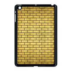 Brick1 Black Marble & Gold Brushed Metal (r) Apple Ipad Mini Case (black) by trendistuff
