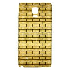 Brick1 Black Marble & Gold Brushed Metal (r) Samsung Note 4 Hardshell Back Case by trendistuff