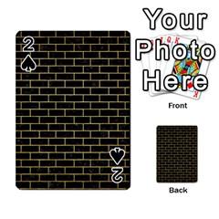Brick1 Black Marble & Gold Brushed Metal Playing Cards 54 Designs