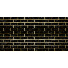 Brick1 Black Marble & Gold Brushed Metal You Are Invited 3d Greeting Card (8x4)
