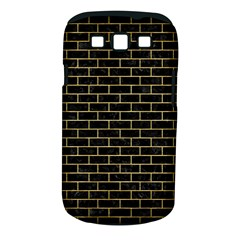 Brick1 Black Marble & Gold Brushed Metal Samsung Galaxy S Iii Classic Hardshell Case (pc+silicone) by trendistuff