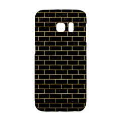Brick1 Black Marble & Gold Brushed Metal Samsung Galaxy S6 Edge Hardshell Case by trendistuff
