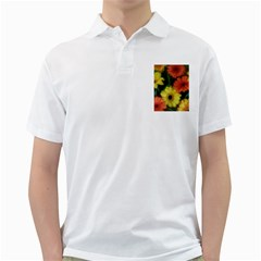 Orange Yellow Flowers Golf Shirts by yoursparklingshop